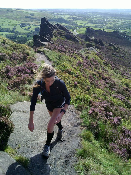 Tracy Dean (UK Ultra Trail Champion 2013, Team Inov-8 & Torq fuelled Athlete) often trains across Ramshaw Rocks and the Roaches
